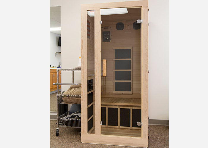 infrared sauna with border