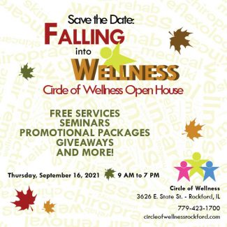 falling into wellness save the date ad